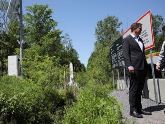 Andrew Scheer visits the border at Roxham Road