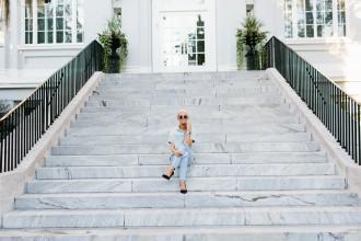 Denim on Denim // Dannon, Like The Yogurt Fashion Blogger