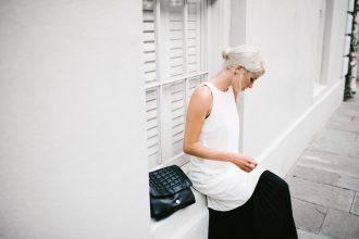 ASOS Clean Crepe Maxi Dress with Sheer Pleated Hem Street Style 2016 Summer Messy Bun // Charleston Fashion Blogger Dannon Like The Yogurt