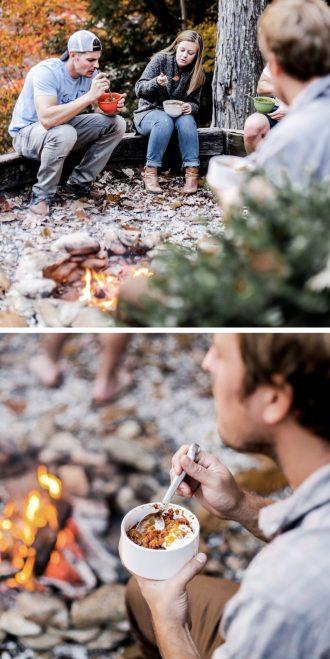 Mountain Weekend Fall in Maggie Valley NC lake junaluska Asheville North Carolina Brewery bonfire nights s'mores chili log cabin autumn retreat friends hot tub Charleston Fashion Blogger Dannon Like The Yogurt