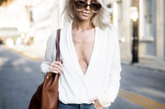 plunge neck sping street style // charleston fashion blogger dannon k collard like the yogurt
