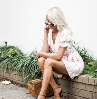 Spring Style Privacy Please Orchid Mini Pearl Stripe ankle strap sandals bamboo purse cult gaia white round sunglasses // Charleston Fashion Blogger Dannon K. Collard Like The Yogurt