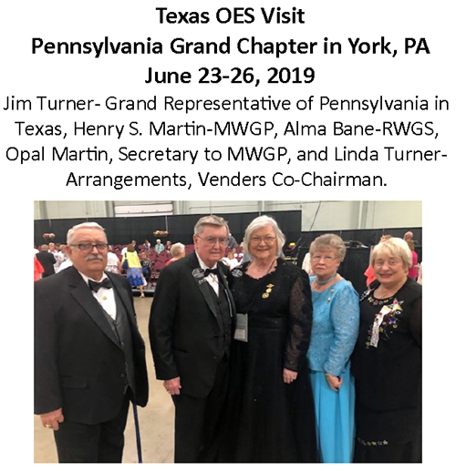 Picture-Visit to PA Grand Chapter, 6-23thru26, 2019