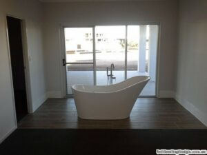 Main bedroom, bath with a view
