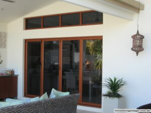 Timber look doors out to new patio
