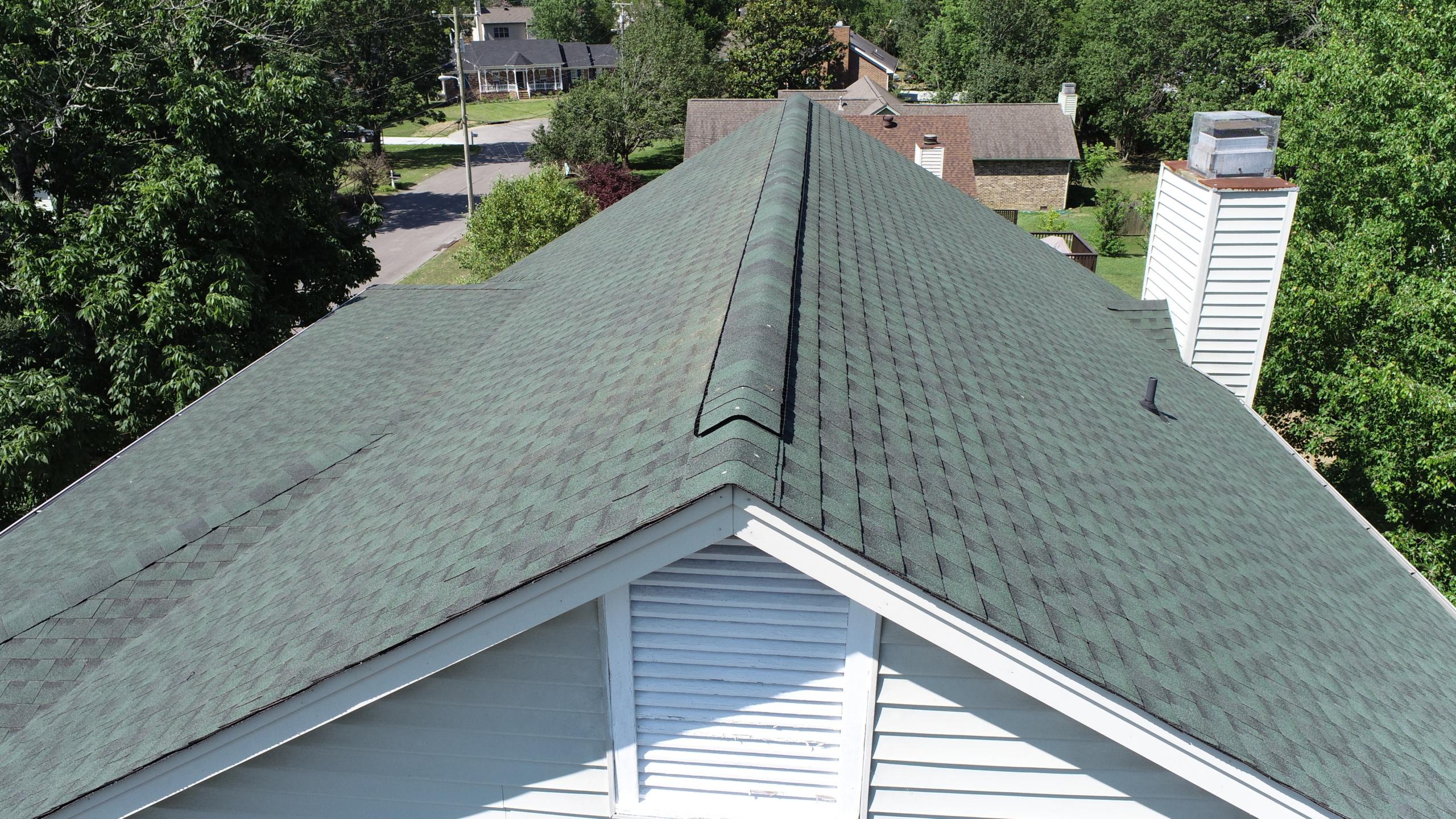 Murfreesboro Roofers GAF Timberline Hunter Green 4