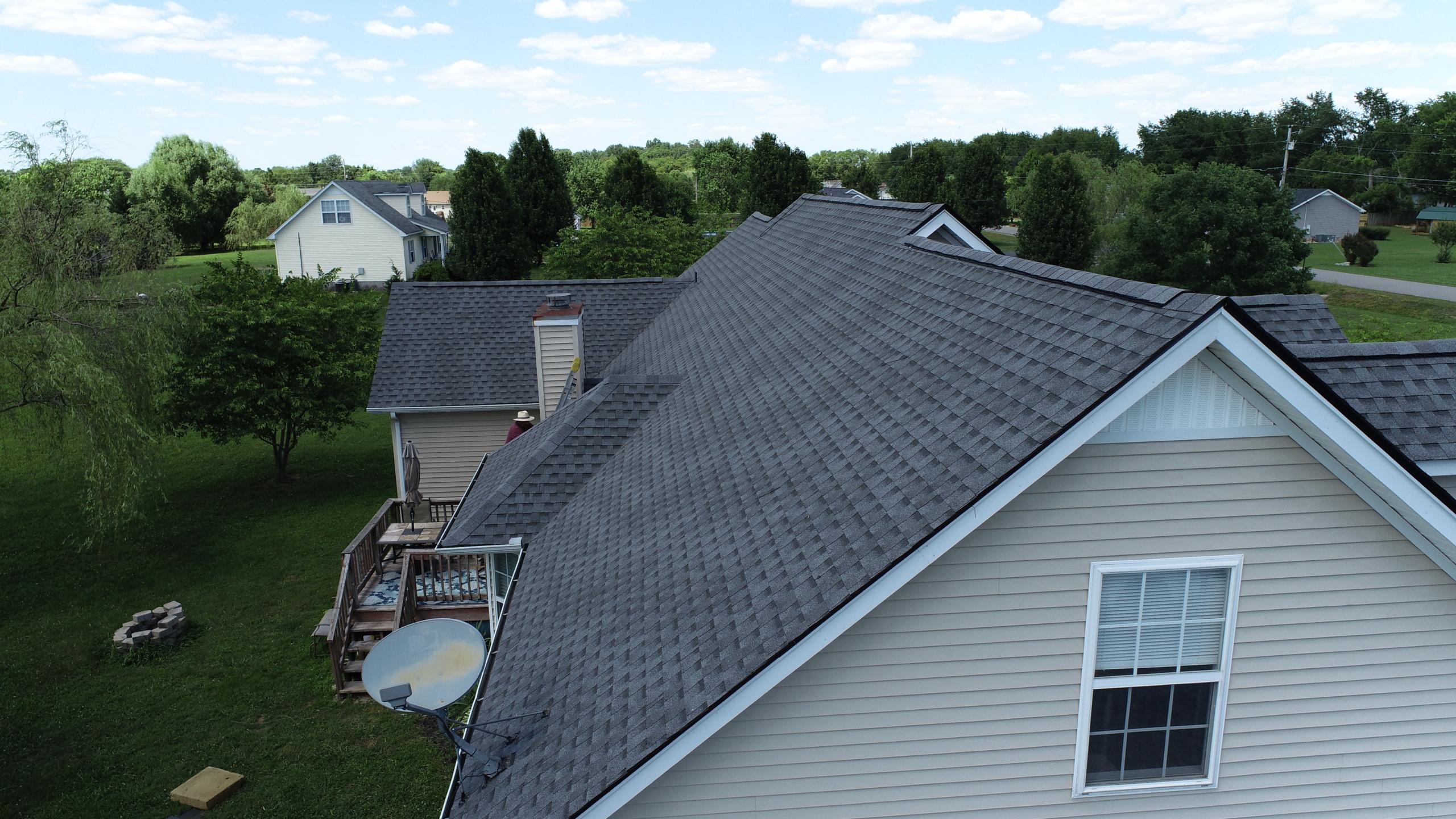 Roofing Murfreesboro GAF Pewter Gray Shingles 1