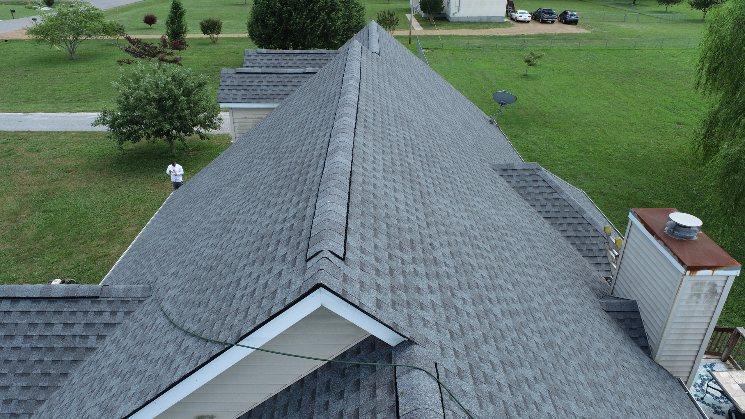Roofing Murfreesboro GAF Pewter Gray Shingles 2