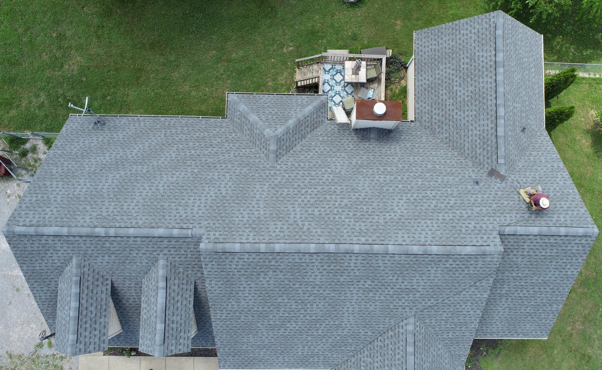 Roofing Murfreesboro GAF Pewter Gray Shingles 6