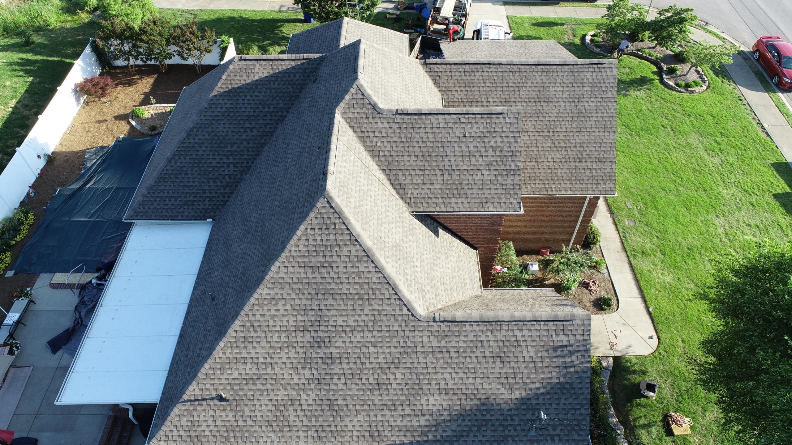 Roofing Murfreesboro GAF Weathered Wood Shingles 2