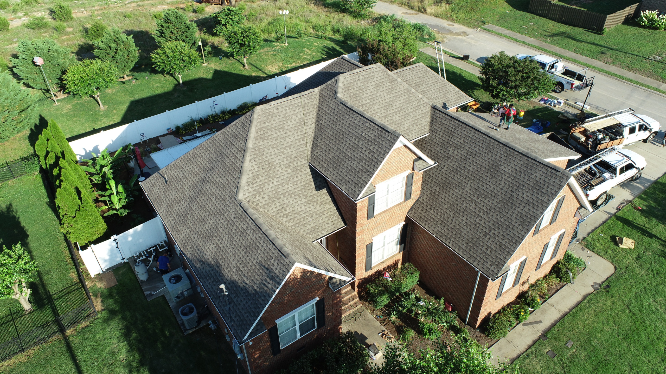 Roofing Murfreesboro GAF Weathered Wood Shingles 3