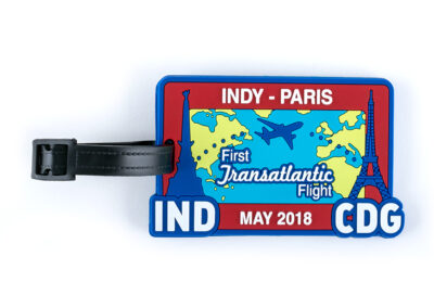Indy-Paris Transatalantic Flight May 2018 Luggage Tag