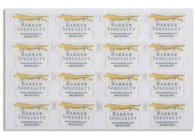 Barker Specialties Epoxy Labels