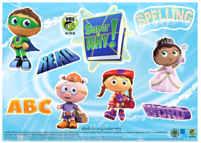 WETA Super Why Stickers
