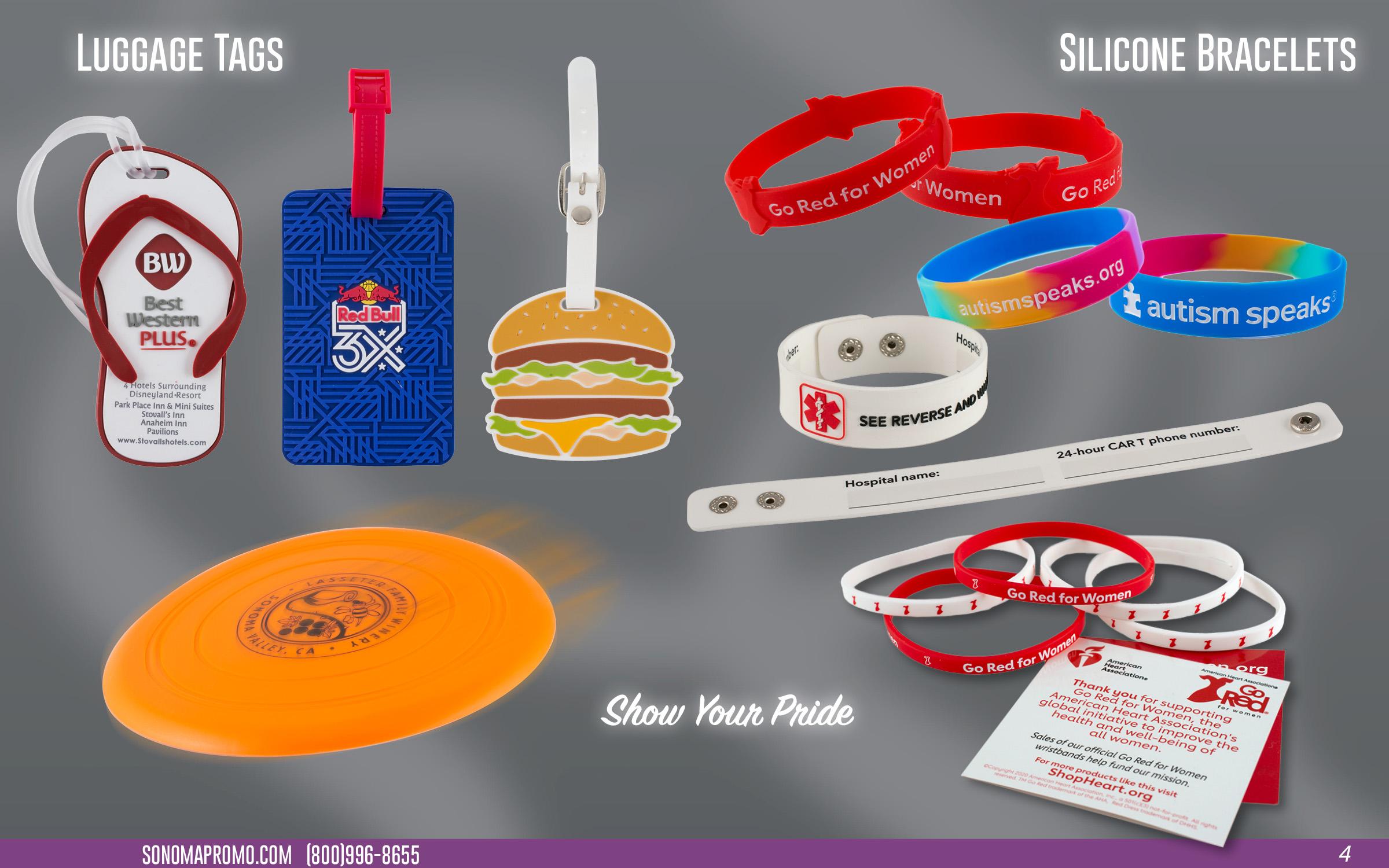 Luggage Tags & Silicone Bracelets