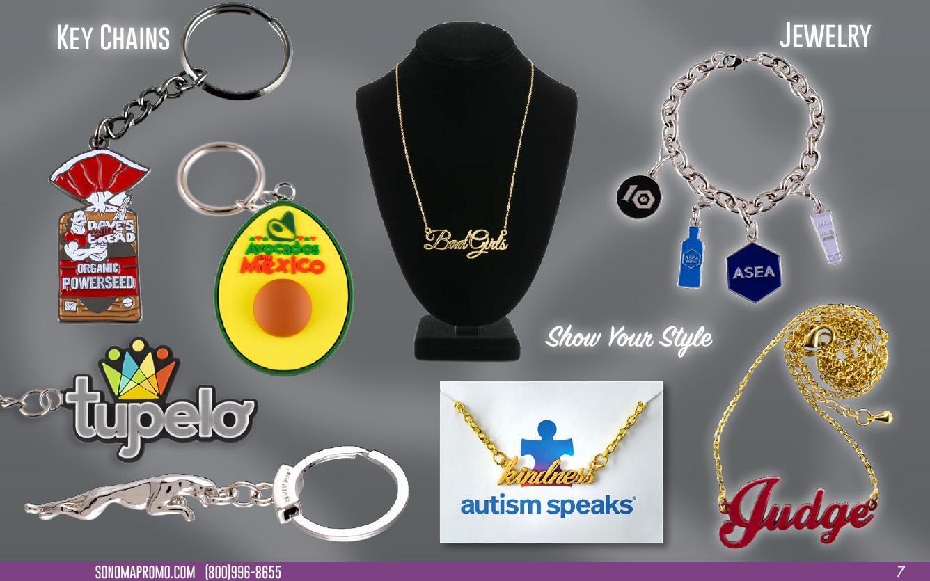 Key Chains & Jewelry
