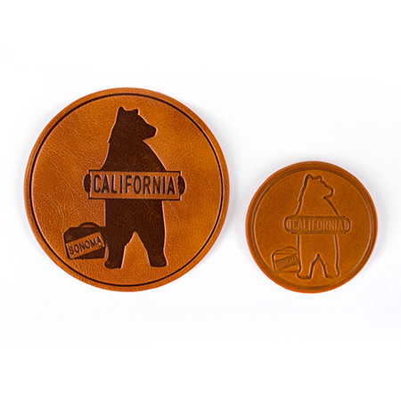 Sonoma Promotional Products Leather Coasters