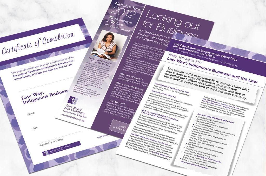 Terri Janke brochures