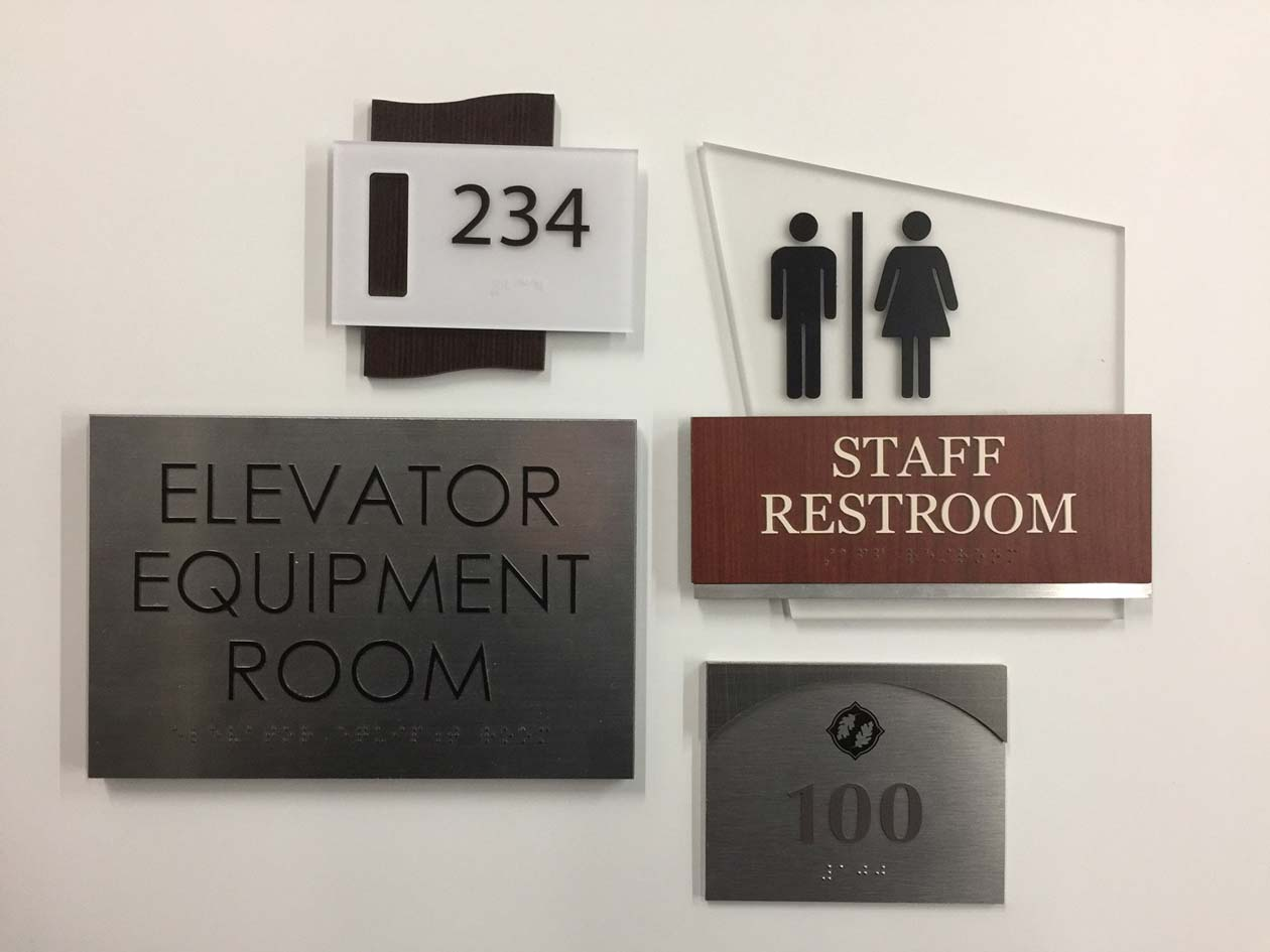 indoor compliance signs 4 signs