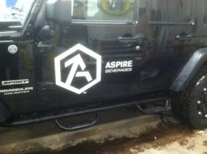 car decal aspire beverages