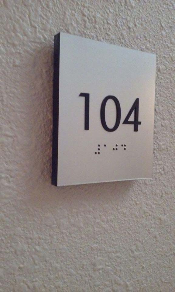 indoor compliance signs braille