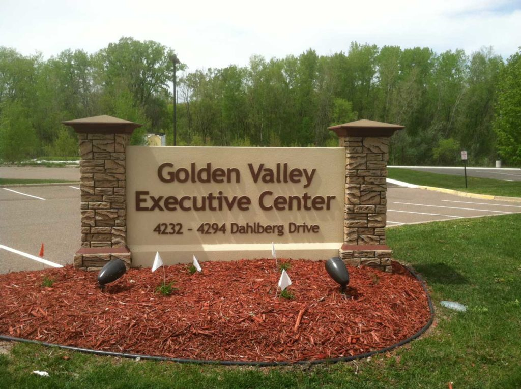outdoor sign golden valley executive center