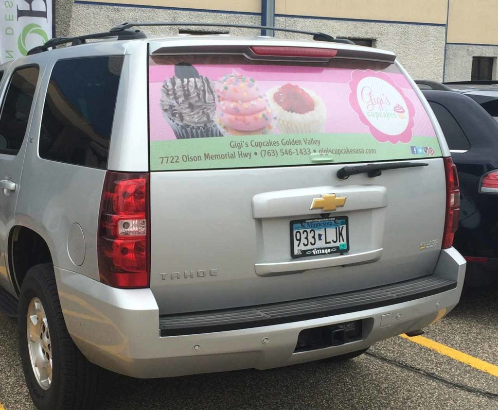 car decal gigis cupcakes golden valley