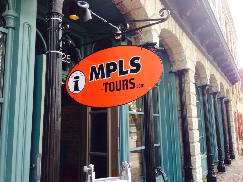 outdoor blasde sign MPLS tours