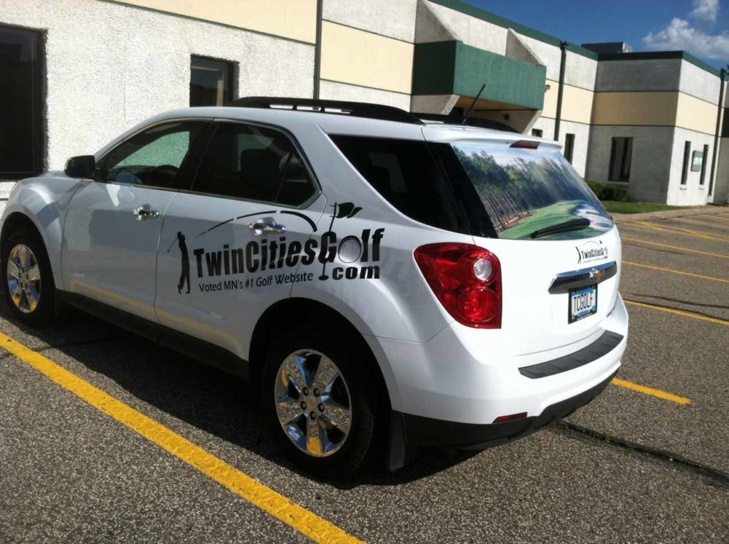 car decal twin cities golf