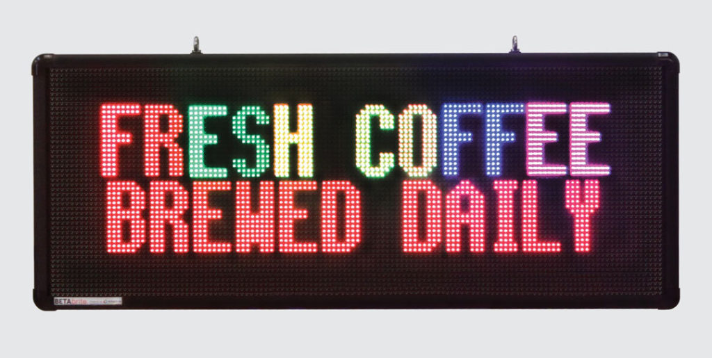 digital display fresh coffee