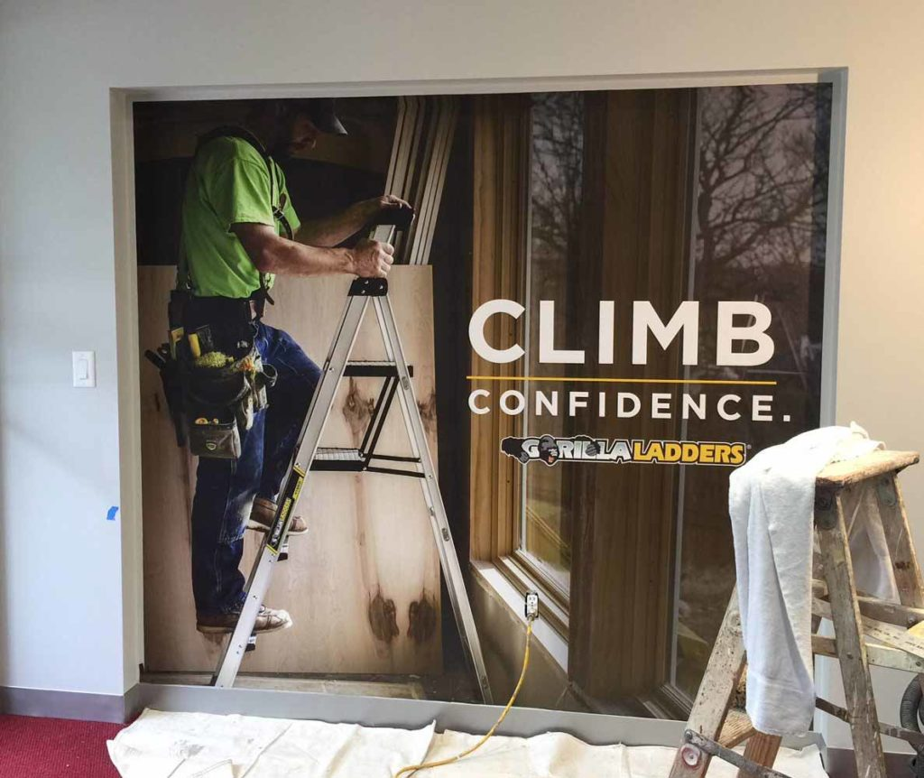 wall mural graphic climb confidence