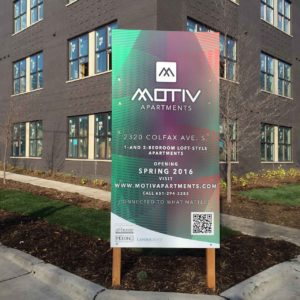business outdoor signs loft apartments