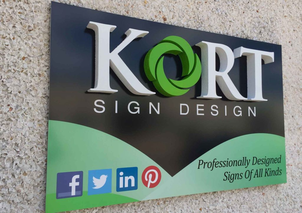 lobby sign kort signs design