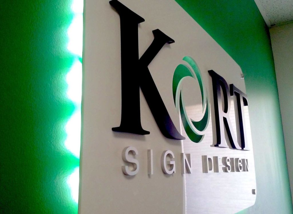 Kort Sign Design Lobby Sign