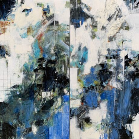 """Blue Move Diptych - 30""""x30"""""""