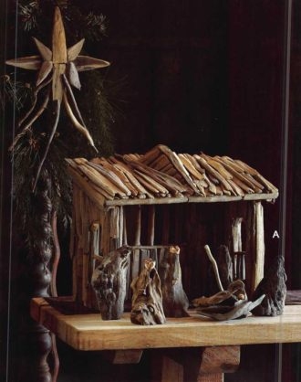 Roost Driftwood Nativity