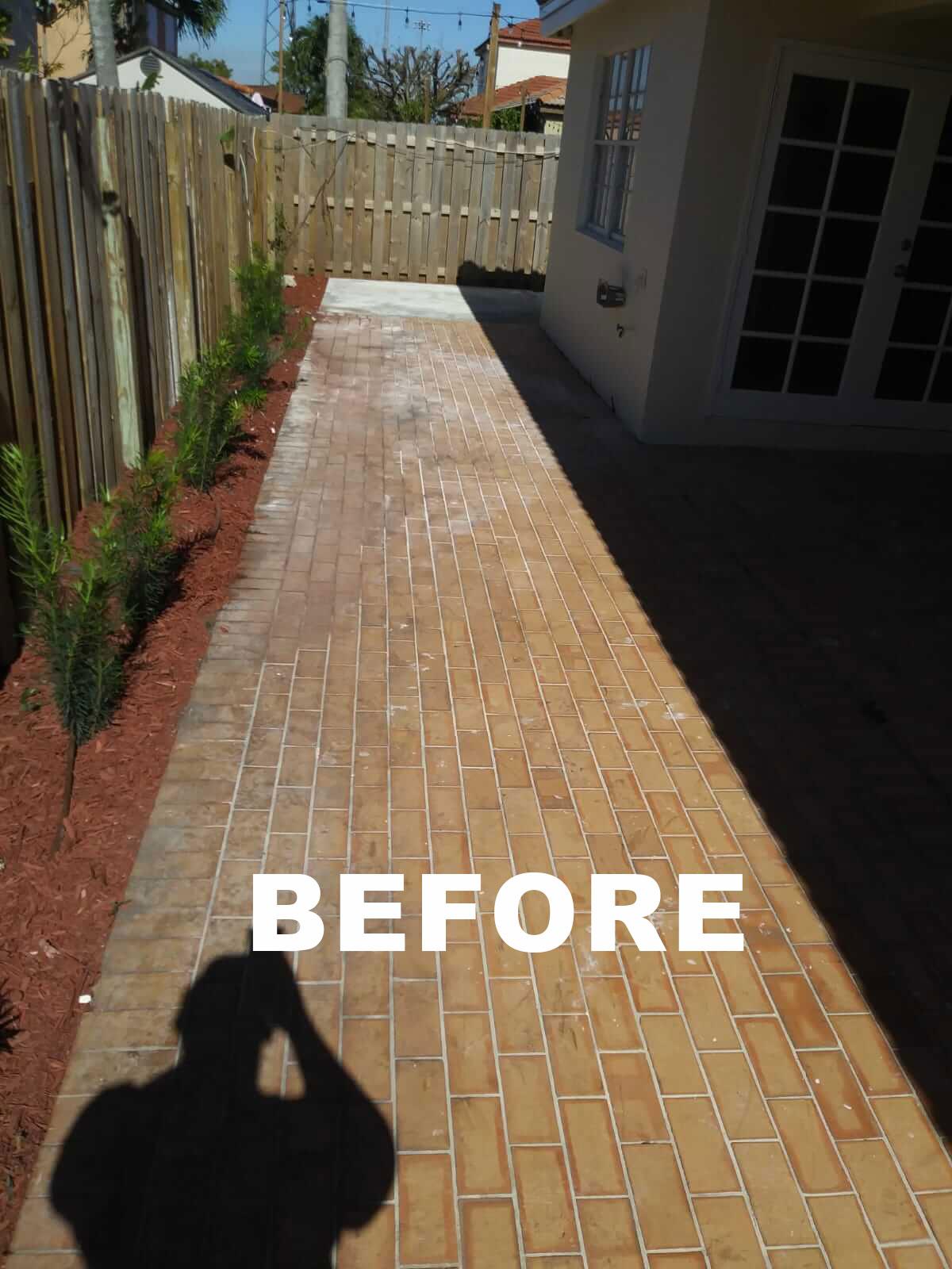 Walkway before restoration