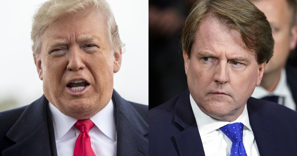Trump Says There Is No Way McGahn Will Testify