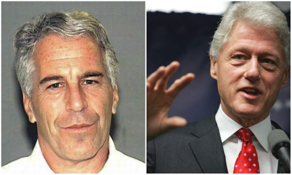 Disgraced pedophile Epstein allegedly had a portrait of Bill Clinton posing in a blue dress