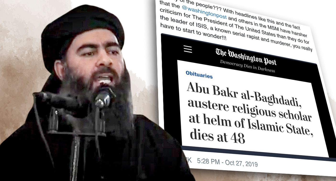 Washington Post Retracts Absurd Headline About al-Baghdadi