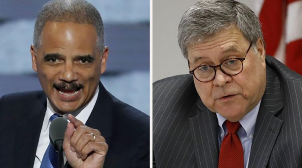 Eric Holder Dares to Call Out Barr for Sucking Up to Trump