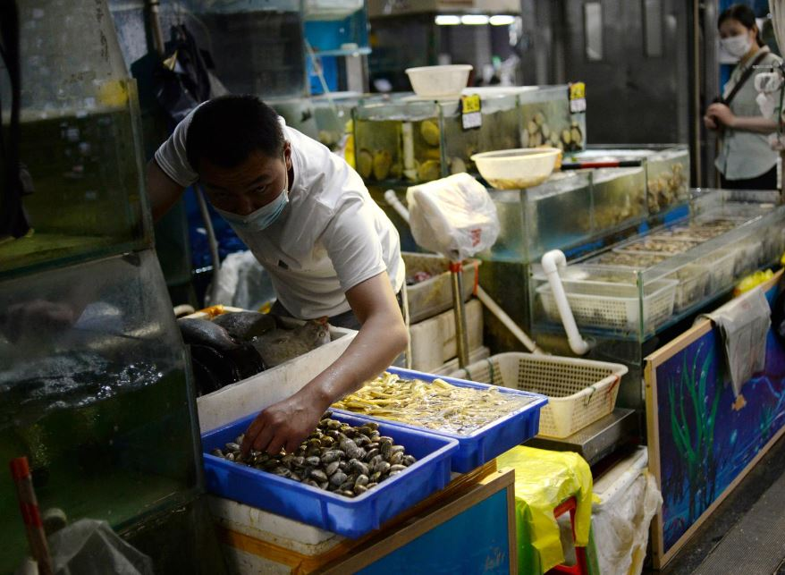 China finds heavy coronavirus traces in seafood, meat sections of Beijing food market