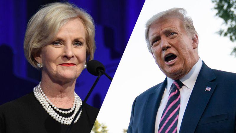 Trump dismisses Cindy McCain's endorsement of Biden