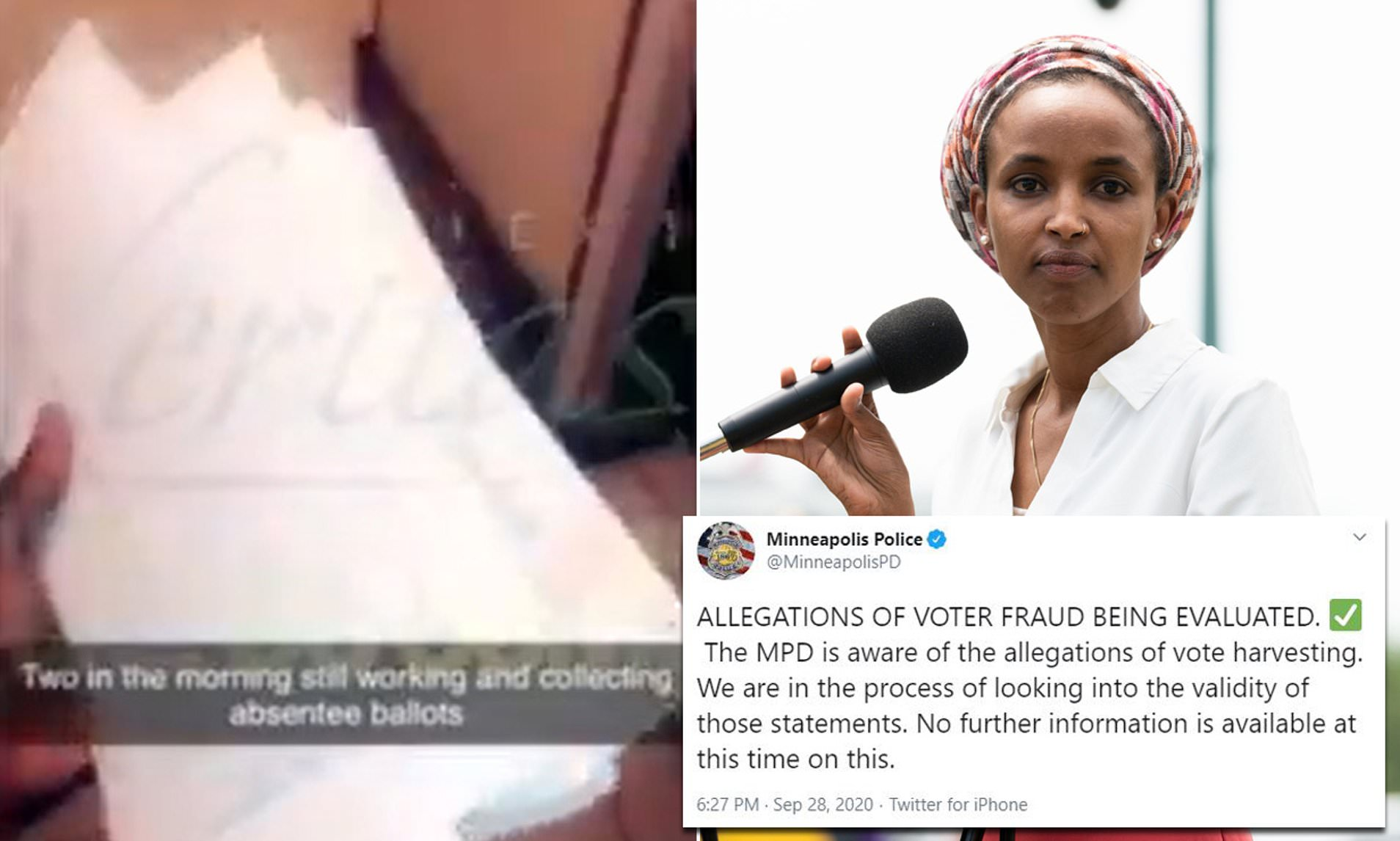 """Ilhan Omar Reportedly Led """"Cash for Ballots"""" Scheme Exposed by Project Veritas"""