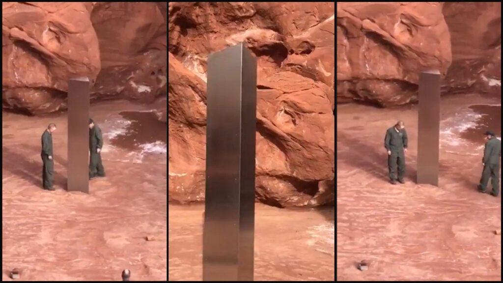 10-foot Metal Obelisk Shows Up In Utah Desert -- No One Is Worried Because 2020