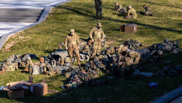 National Guard Sleeping On Ground