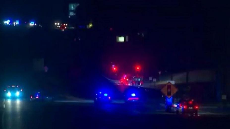 Police Car Lights In Dark
