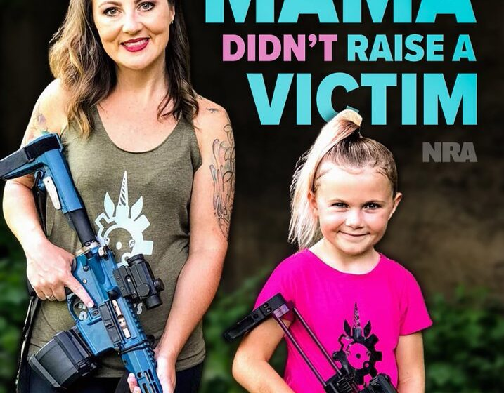 NRA Posts Photo of Mom and Child Holding Rifles on Mothers Day