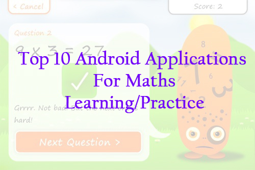 Maths Learning Android Applications