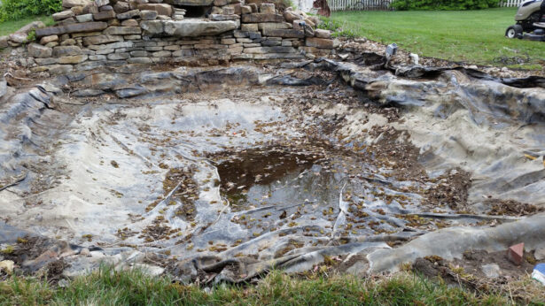 watergarden-pond-before-construction-liner-exposed